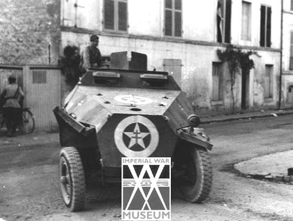 Vehicules recuperes par les FFI -1944 251010