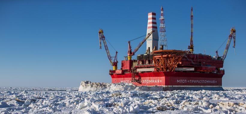 Plate-forme pétrolière à l'épreuve des glaces du monde Artonp10