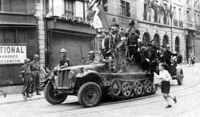 Vehicules recuperes par les FFI -1944 Besano10
