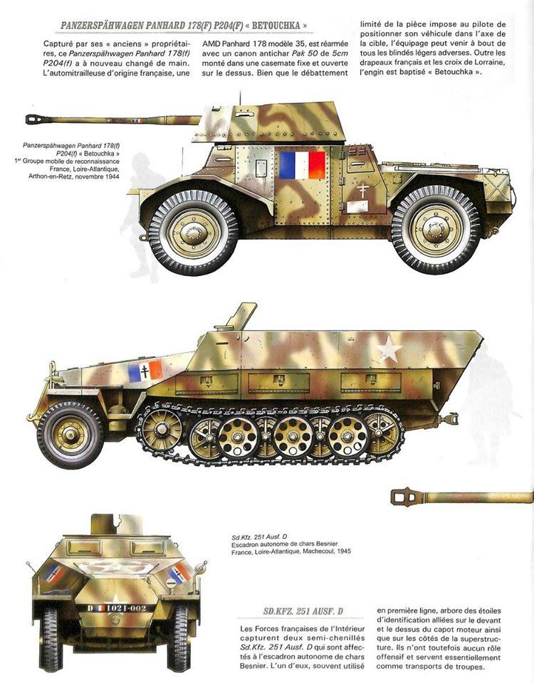 Vehicules recuperes par les FFI -1944 P178_m11