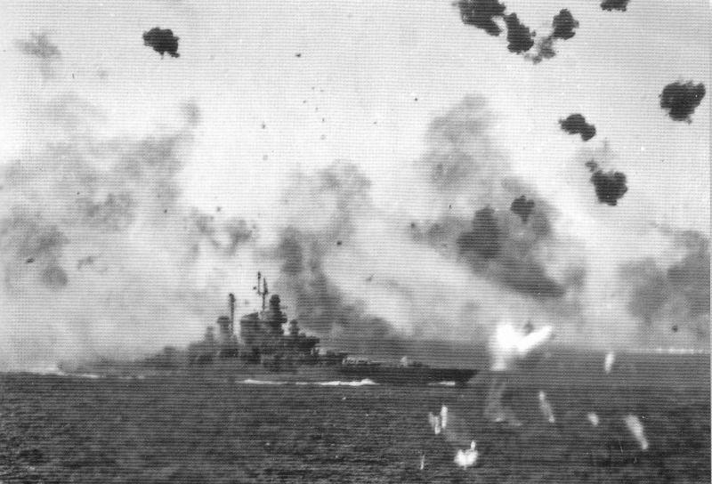 Navires US endommages par des kamikazes Teness10