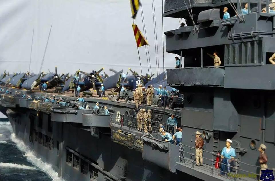 Porte-avions CVL ′′ USS Sangamon ′′-1/72e Uss_sa25