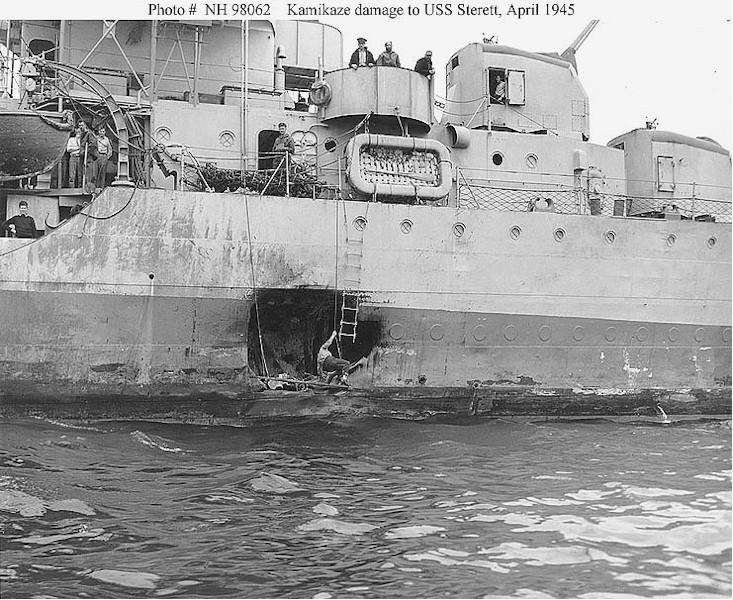 Navires US endommages par des kamikazes Zstere10