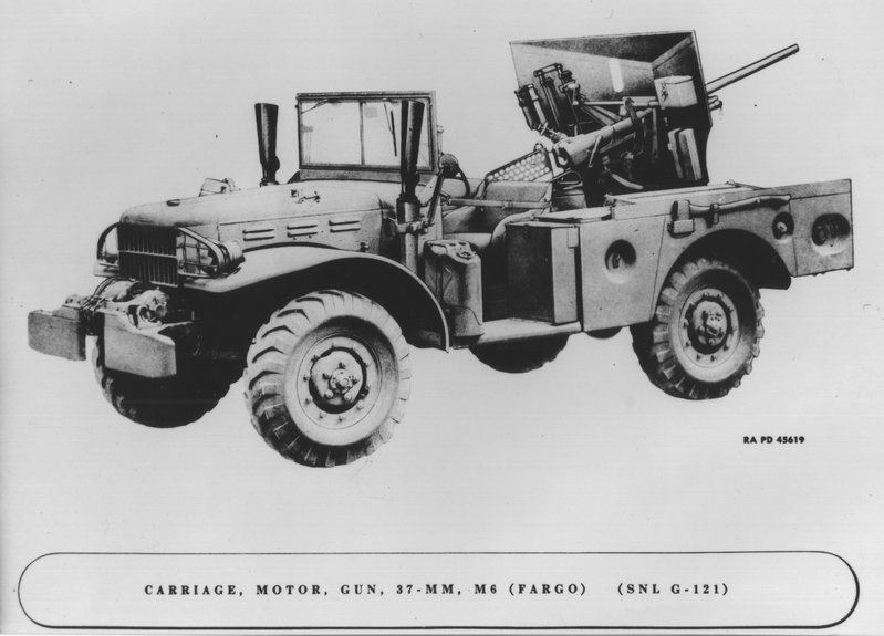 Carriage, Motor 37mm Gun T13 Ford Zz188