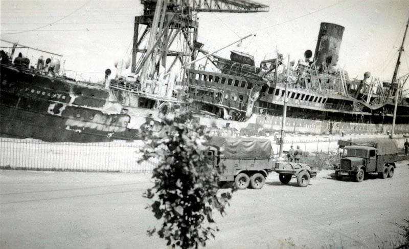20 juin 1940, le paquebot Foucauld bombarde Zzz90