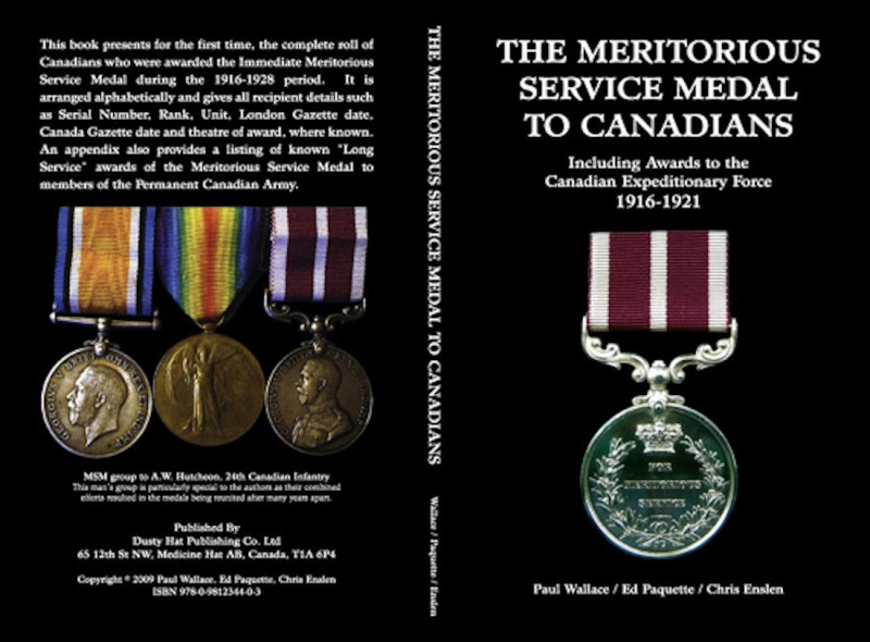 The Meritorious Service Medal to Canadians 1916-1921 Cover10