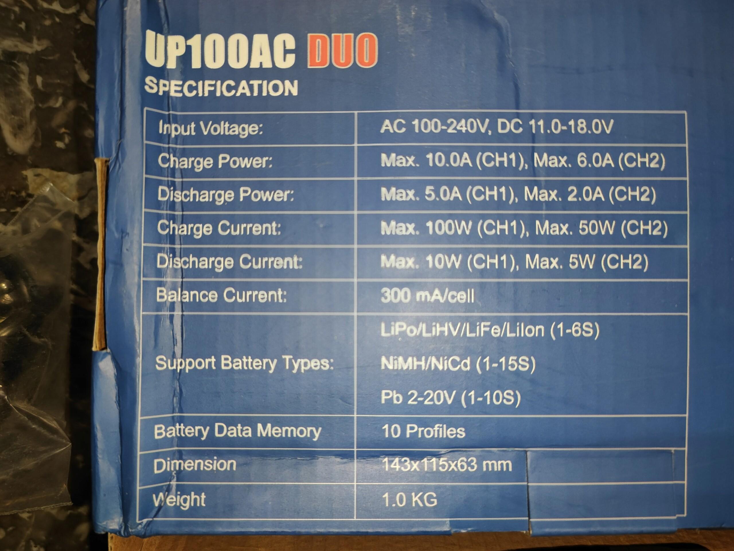 [VENDU] Chargeur double sorties UltraPower 100AC Duo. 16206811