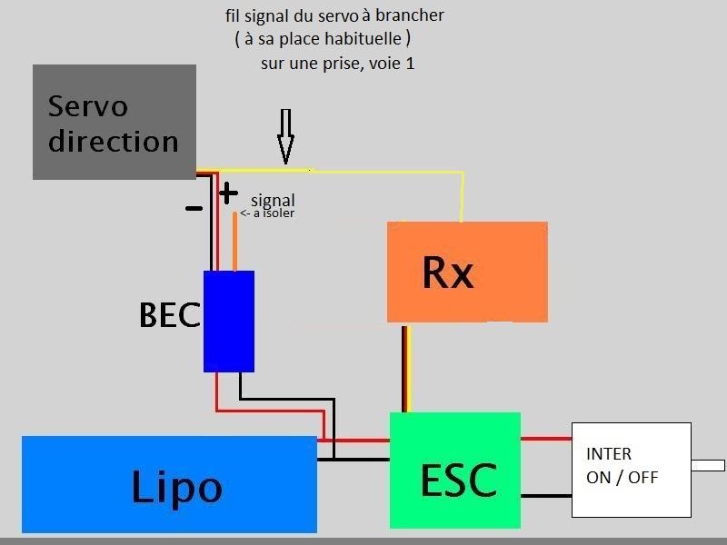 BEC externe UBEC ou SBEC 5 à 6V pas cher, comment connecter et alimenter un BEC externe pour servo - Page 5 Cablag12