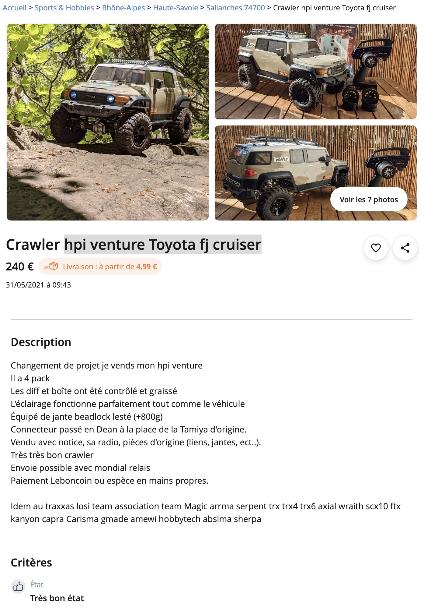 [LBC] hpi venture Toyota fj cruiser Captu285