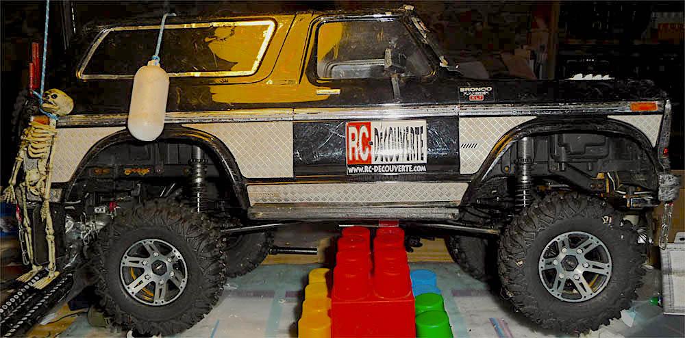 Test de différentes tailles et de styles de pneus et jantes sur Traxxas TRX-4 Bronco Trx-4-10