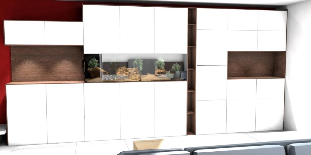 Projet aquarium 180cm intégré dans un meuble  462ca010