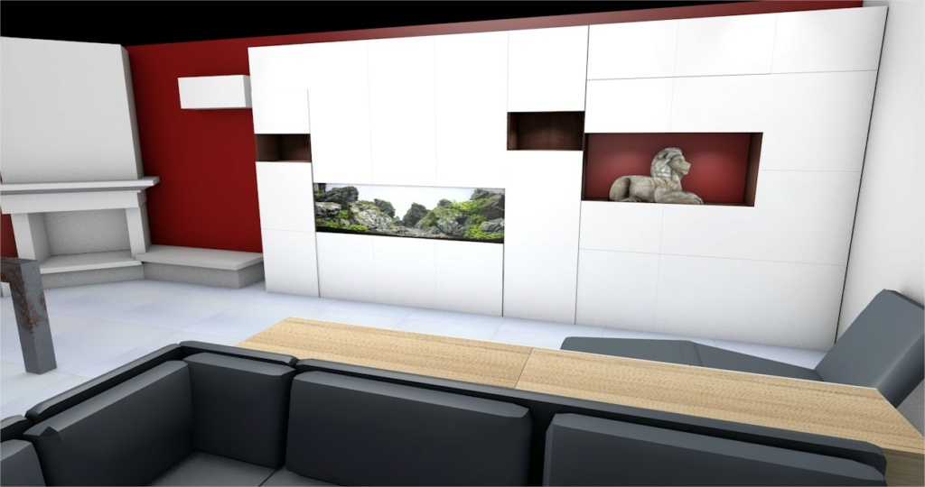 Projet aquarium 180cm intégré dans un meuble  Cinema11