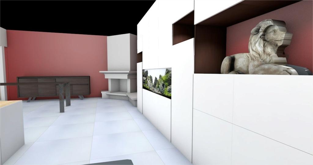 Projet aquarium 180cm intégré dans un meuble  Cinema12