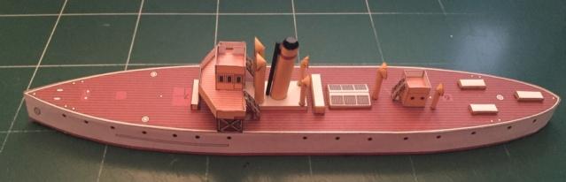 Modèle perso en papier, canonnière portugaise de 1910 : la Beïra 1/250e 102-po10