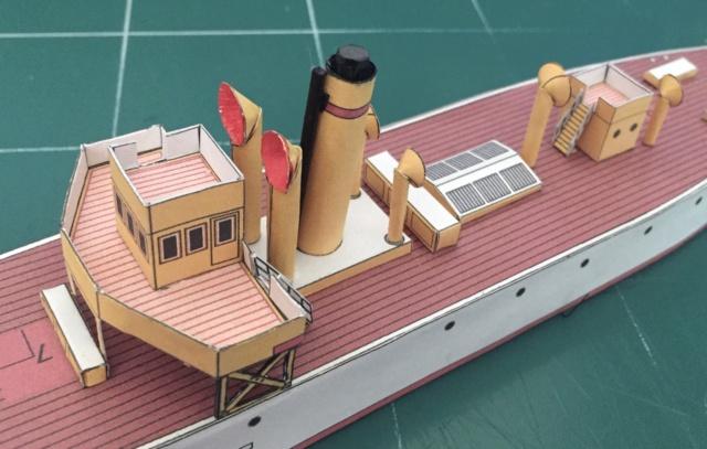 Modèle perso en papier, canonnière portugaise de 1910 : la Beïra 1/250e 103-po10