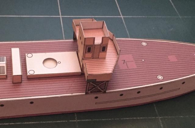 Modèle perso en papier, canonnière portugaise de 1910 : la Beïra 1/250e 44-pos10