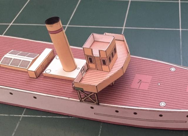 Modèle perso en papier, canonnière portugaise de 1910 : la Beïra 1/250e 50-pas10