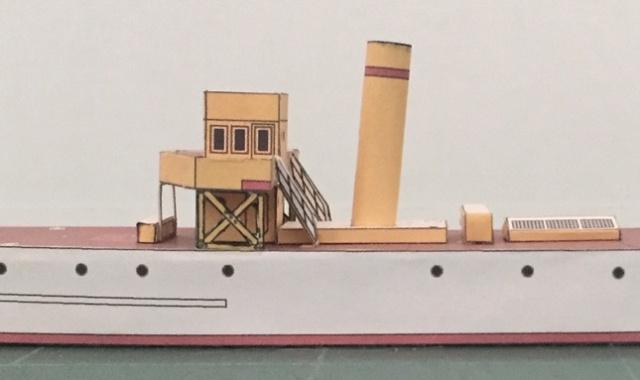 Modèle perso en papier, canonnière portugaise de 1910 : la Beïra 1/250e 67-pro10