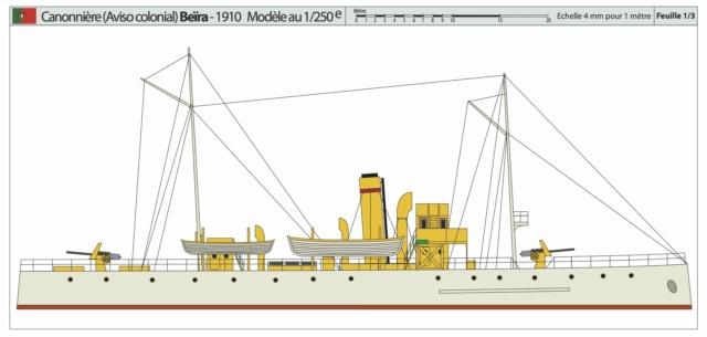 Modèle perso en papier, canonnière portugaise de 1910 : la Beïra 1/250e Canonn14
