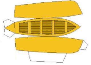 Modèle perso en papier, canonnière portugaise de 1910 : la Beïra 1/250e Canot10