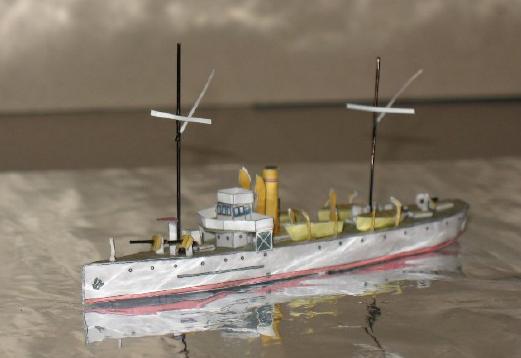 Modèle perso en papier, canonnière portugaise de 1910 : la Beïra 1/250e Maquet10