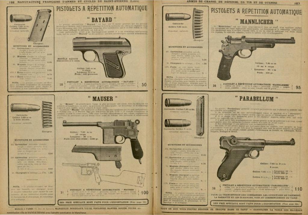 Le Luger dans les catalogues de vente de 1900 à 1934 Manu310