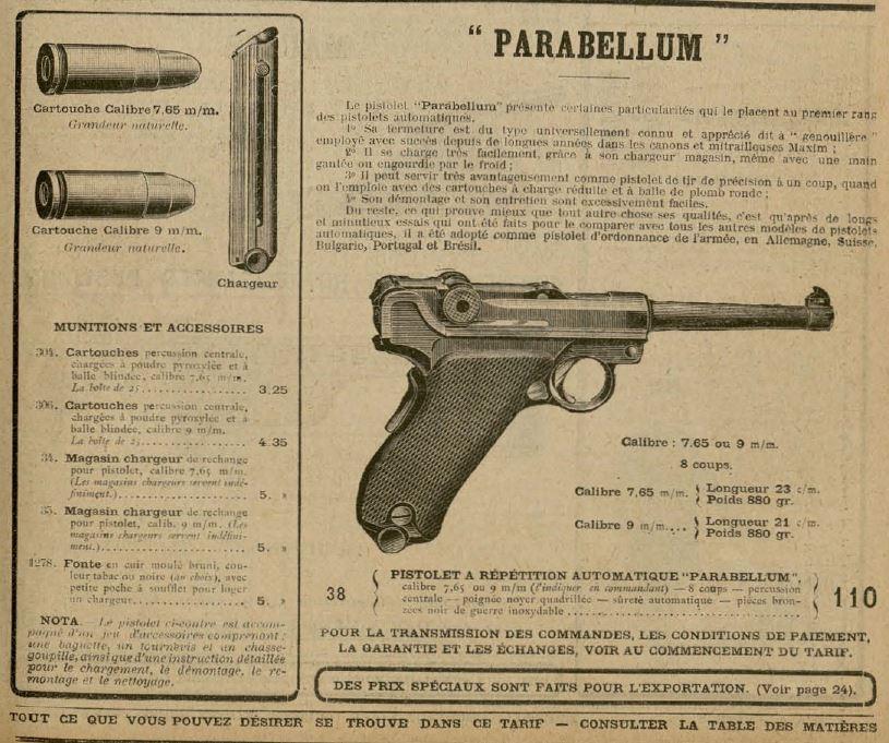 Témoignage sur l'utilisation du pistolet d'ordonnance de l'Armée Suisse pendant la 1 ère guerre Para10