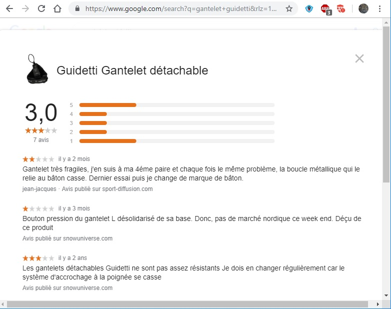boucle gantelet Guidetti qui cassent à répétition Avis_g10