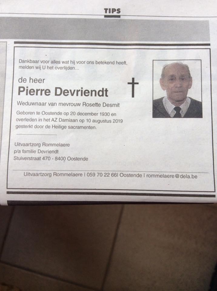 Déces - Overlijden (2) - Page 66 68727310
