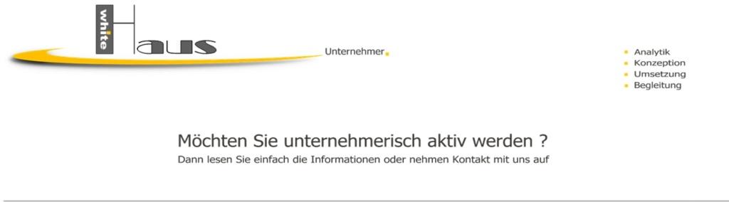 white Haus Unternehmer - Starten + Wachsen