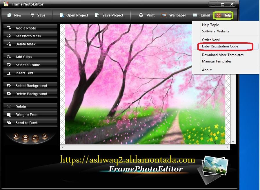 برنامج Frame Photo Editor.v5.0.0 للتعديل وصناعة الصور واضافة البراويز بكل سهولة كامل حصريا بمنتديات اشواق وحنين 0123