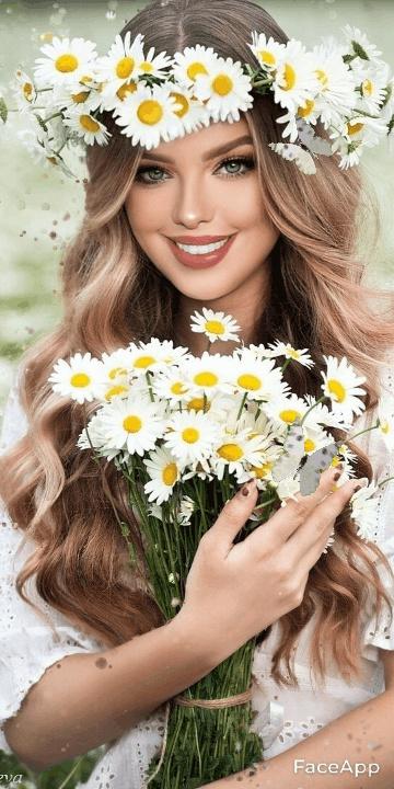 ألبوم صور ملكات جمال الورد والزهور بنات جميلات خلفيات للتصميم 0e67b510