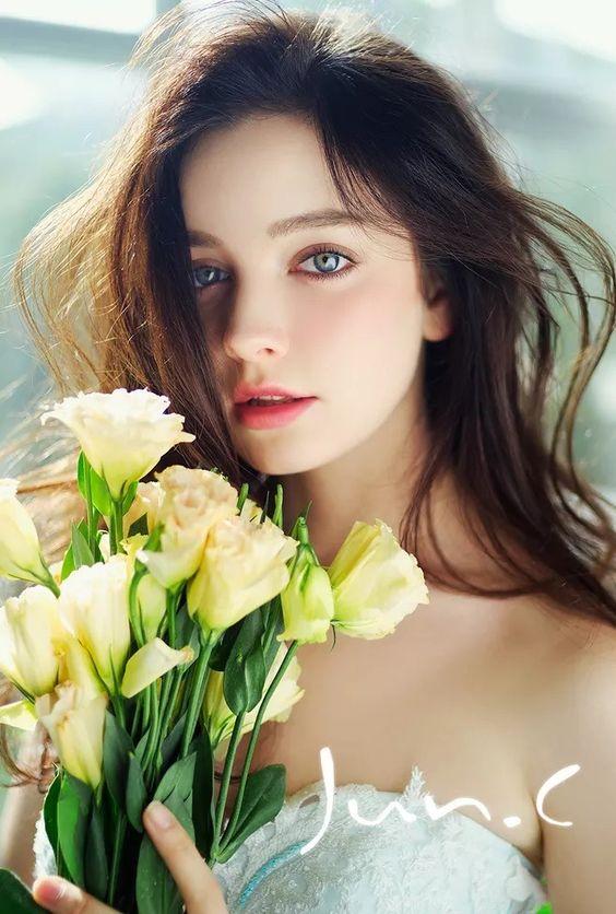 ألبوم صور ملكات جمال الورد والزهور بنات جميلات خلفيات للتصميم Fd251810