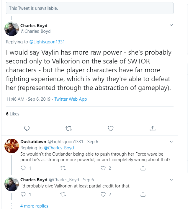 Charles Boyd confirms Vaylin vs Outlander theories Charle10