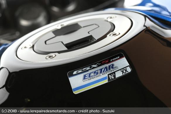 Une édition spéciale aux couleurs du team Suzuki Ecstar Plaque10