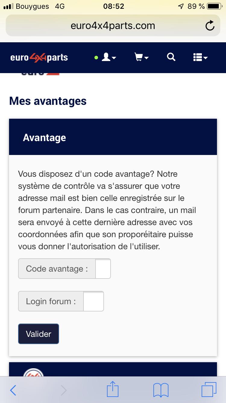 Changement de la procédure de contrôle des codes avantage 78037e10