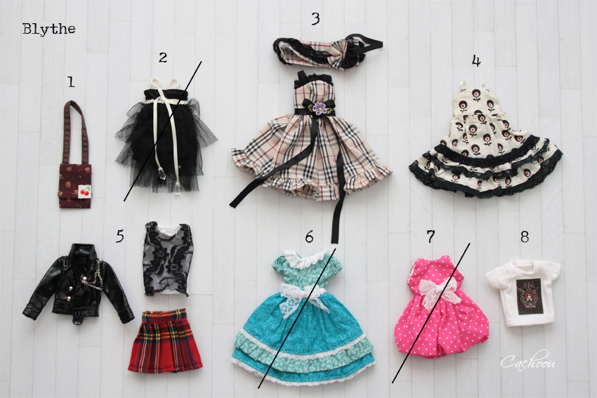 [V] Outfit Blythe Pullip Dal SD MSD YOSD chaussures collants Blythe15