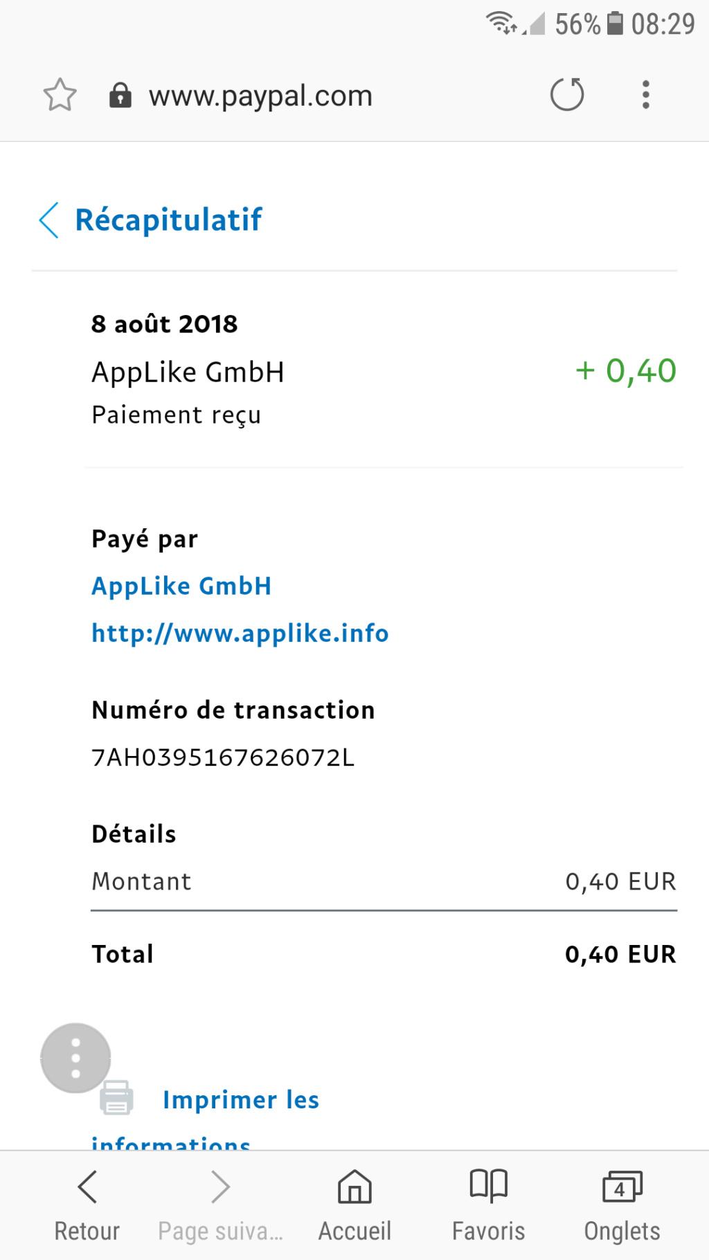 Voulez vous gagnez de l'argent paypal? Méthode 1 exemple Screen11