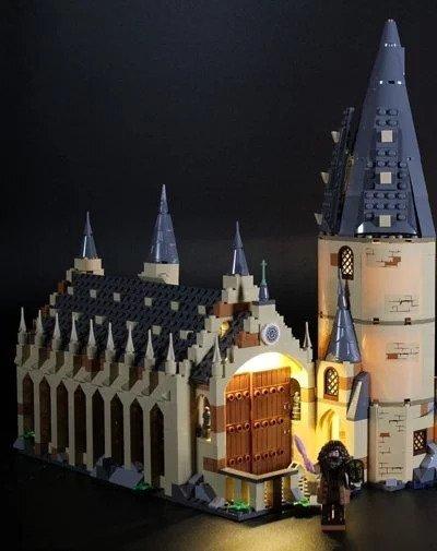 Lighting kit for Hogwarts Great Hall 75954 Ezgif_13