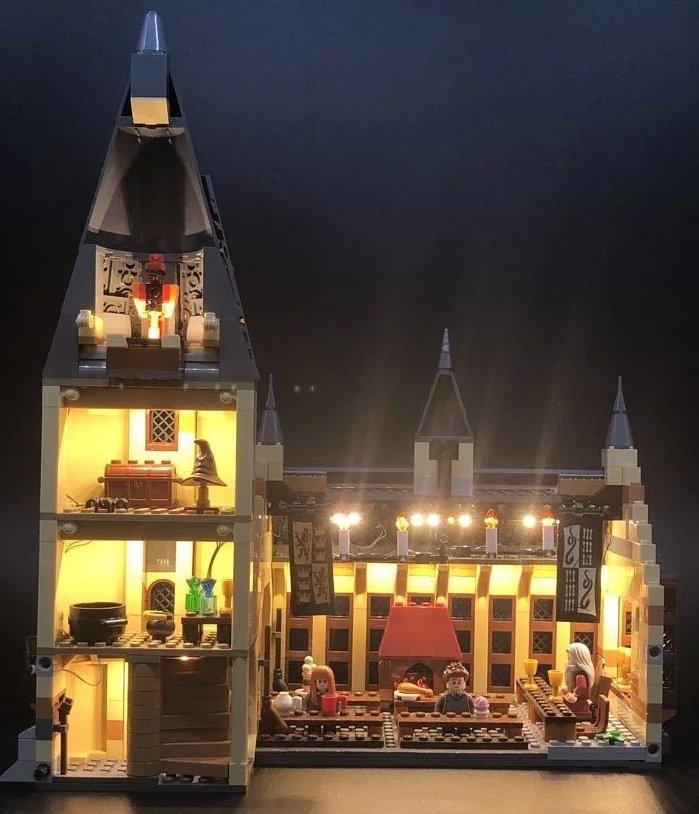 Lighting kit for Hogwarts Great Hall 75954 Ezgif_14