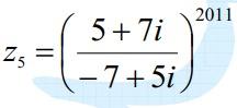 calculez : Z5 4mai11