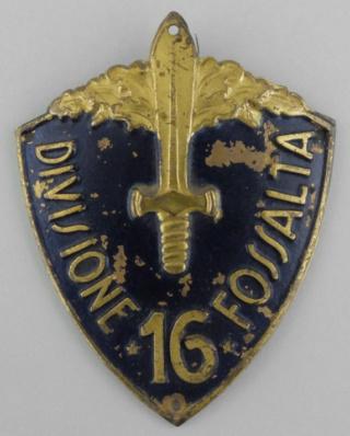 Un peu d'italien - Insigne division Fossalta, insigne GIL Insign10