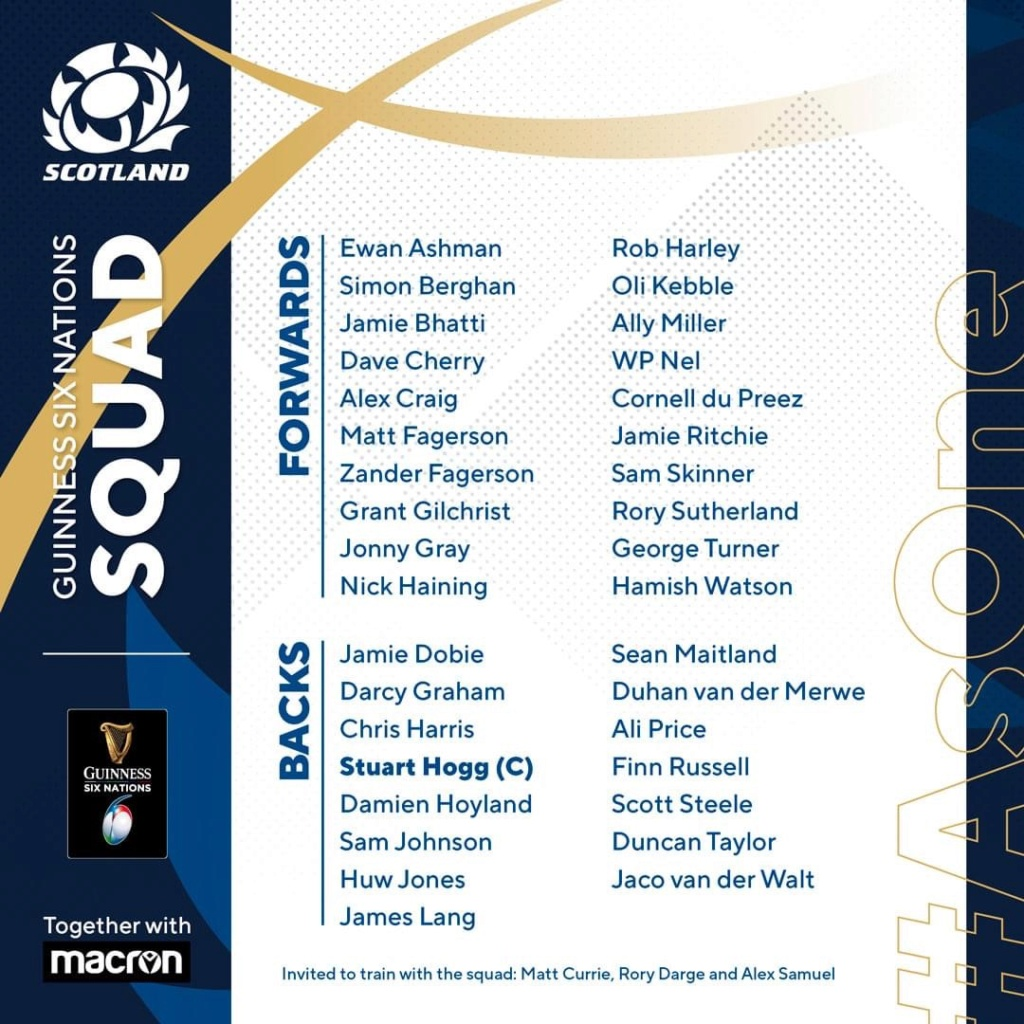 Scotland v Italy 6N Championship Saturday 20th March 2021 58559d10