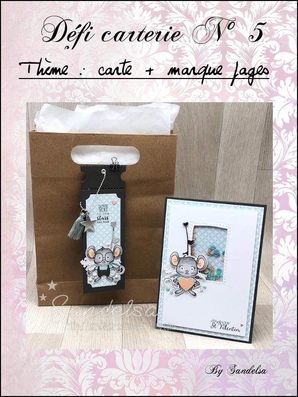 Defi carterie N°5 carte + marque pages Cartem10