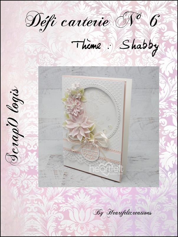 Défi N°6 carterie Shabby Defi611