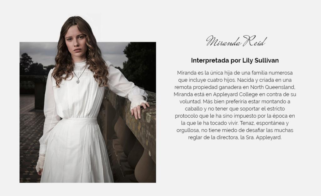Miranda Reid ( Lily Sullivan) Screen12