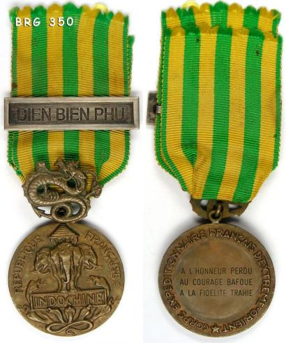 """Des précisions sur l'agrafe de médaille """"Dien Bien Phu"""" 35010"""