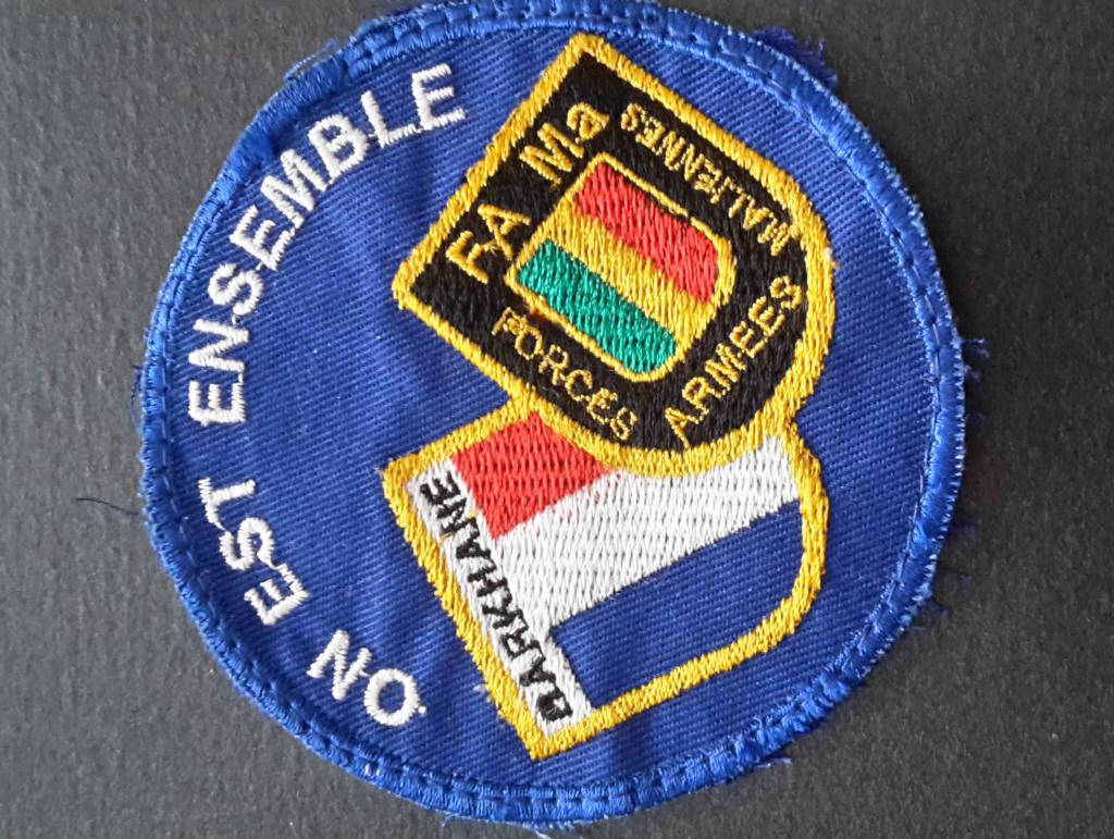 "Ecusson ""On est ensemble"" Mali10"