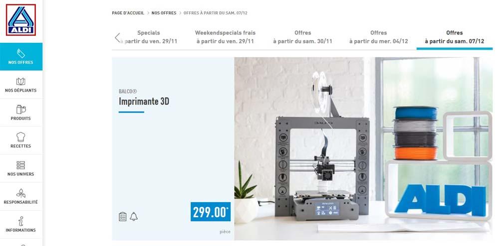 Imprimante 3D chez Aldi (Belgique). Imprim11