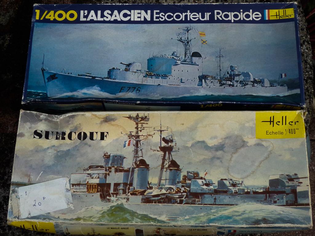 L'Alsacien et le Surcouf 1:400 Heller (plastique) 0110